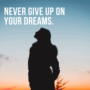 BE AU PAIR. NEVER GIVE UP ON YOUR DREAMS